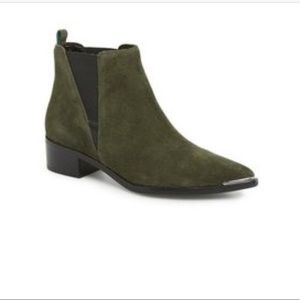 Marc Fisher Yale Olive Ankle Boots